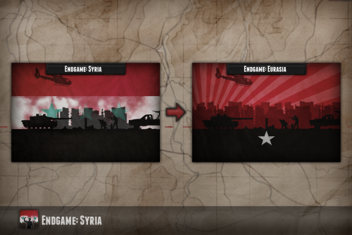 Title changes from 'Syria' to 'Eurasia'...