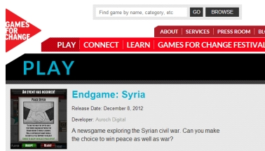 Endgame:Syria on Games For Change